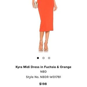 NBD Dresses - Kyra Midi Dress in Fuschia & Orange (XS), NBD, NWT